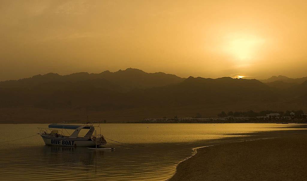 La plage de Dahab en Egypte