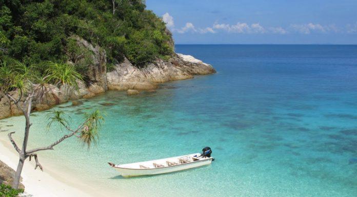 La plage de Pulau Perhentian en Malaisie