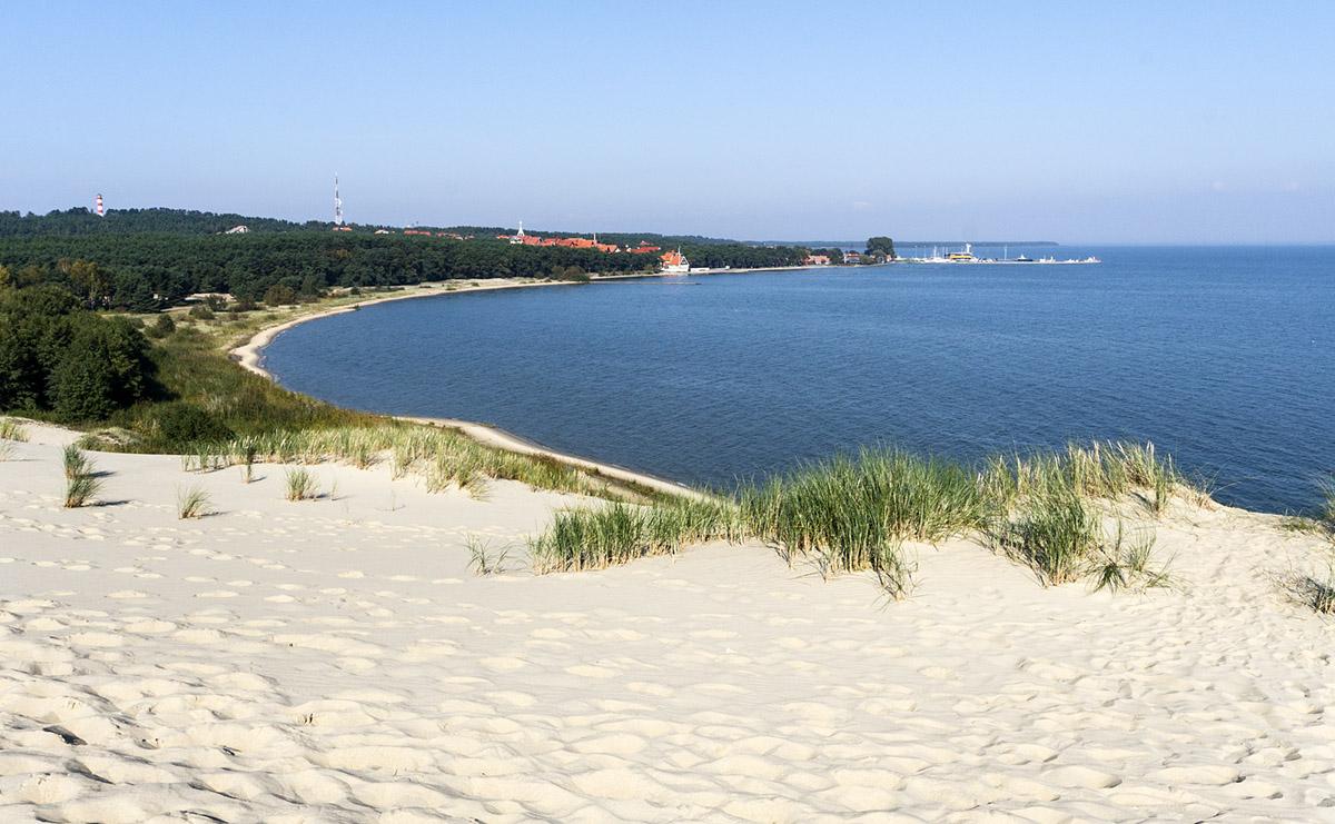 La plage de l'isthme de Courlande en Lituanie